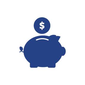 Retirement Piggy Bank Icon.