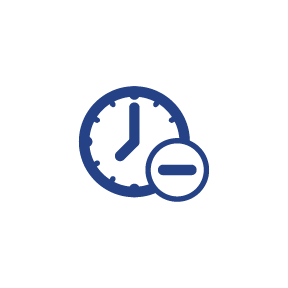 Reduce time icon.